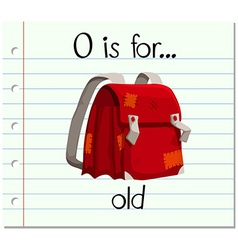 Flashcard letter o is for old vector
