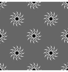 Flowers geometric seamless pattern 1105 vector image