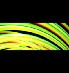 fluid color waves with light effects vector image
