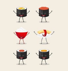 Food character design vector