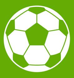 football soccer ball icon green vector image