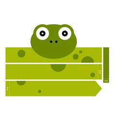 Frog headband vector