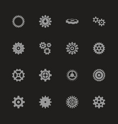 gear - flat icons vector image
