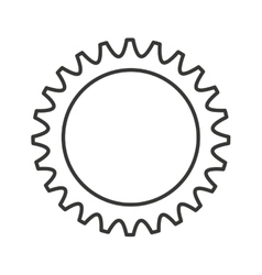 Gear machine settings isolated icon vector