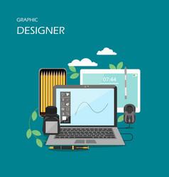 graphic designer flat style design vector image
