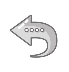 grayscale arrow symbol icon mobile sign vector image