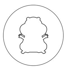 hamster silhouette icon black color in circle vector image