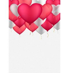 happy valentines day background vector image