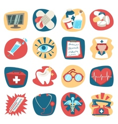Hospital icons set vector image