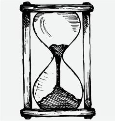 Hourglass sketch vector image