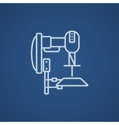 Industrial automated robot line icon vector image