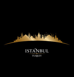 istanbul turkey city skyline silhouette black vector image