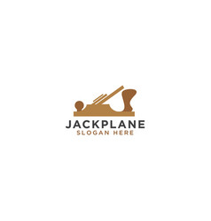 Jack plane logo design template vector