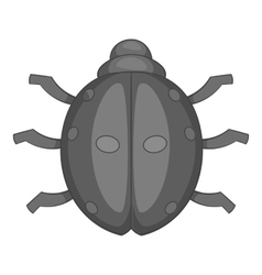 Ladybug icon cartoon style vector