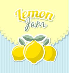 lemon jam label vector image