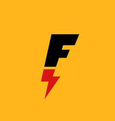 Letter f lightning logo icon design template vector