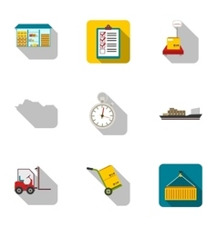 Logistic set icons in flat style Big collection vector image