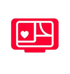 love icon or valentines day sign designed vector image