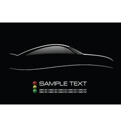 Luxury car lines vector image