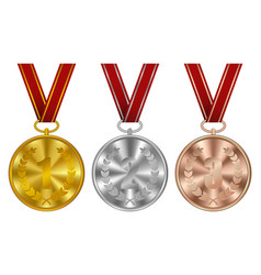 medals winner awards vector image