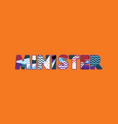 Minister concept word art vector