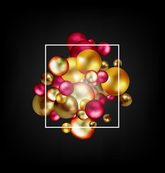 multicolored decorative balls abstract vector image