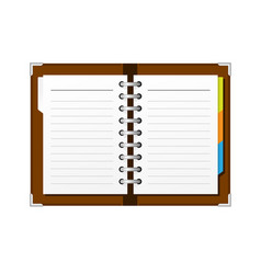 Open spiral diary or notepad - double-page spread vector