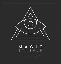 ornamental triangle magic symbol vector image