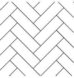 Outline vintage wooden floor herringbone parquet vector