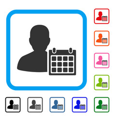 Patient calendar framed icon vector