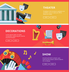 Performance or theatre horizontal vector