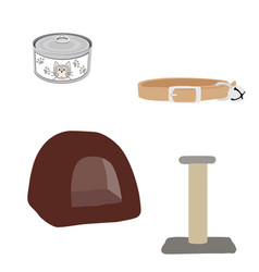 pet shop accessories vector image