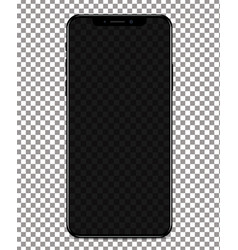 phone with transparent screen on transparent vector image