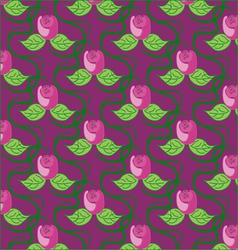 Pink floral seamless background vector