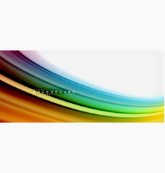 Rainbow fluid colors abstract background twisted vector