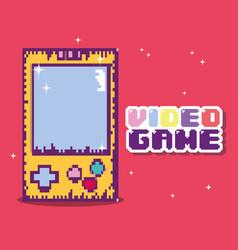 retro videogame console vector image