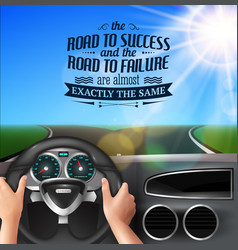 Road to success quotes vector