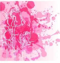 Rose with background vector