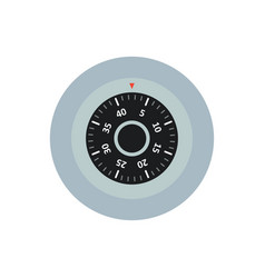 Safe lock with a dial icon vector