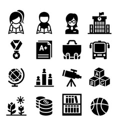 school education icon vector image