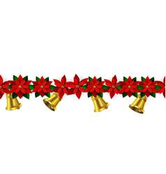 seamless christmas borders vector image