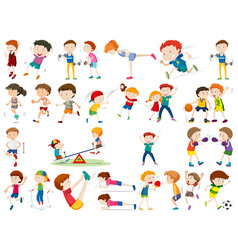 set exercise character vector image