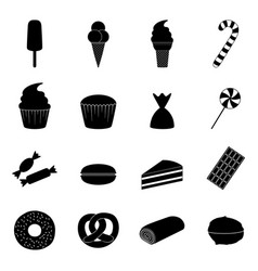 Set of sweets icons vector