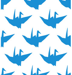 simple seamless pattern with blue origami vector image