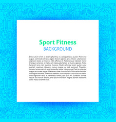 sport fitness paper template vector image