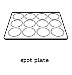 Spot plate icon outline vector