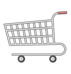supermarket cart icon cartoon style vector image