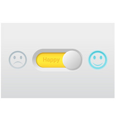 switch control turn on represent happy emotion vector image