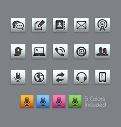 Telecommunications icons - satinbox series vector