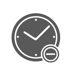 time minus icon simple vector image